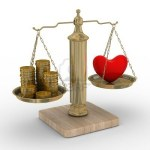 Balancing money & heart